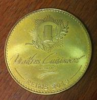 51 REIMS MAÎTRES CUISINIERS DE FRANCE MÉDAILLE MONNAIE DE PARIS 2013 JETON MEDALS TOKEN COINS - Monnaie De Paris