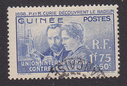 French Guinea, Scott #B2, Used, Curie Issue, Issued 1938 - French Guinea (1892-1944)
