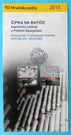 MERLETTO - Croatian Post Official Postage Stamp Prospectus * Lace Dentelle Encaje Spitze Merletto Gourds Spain Espana - Tessili