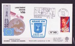 ESPACE - ARIANE Vol Du 1996/05 V86 - Conseil De L'Europe - 1 Document - Europe