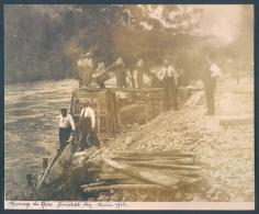 01 GENISSIAT Barrage Travaux 1934 Photo 12 X 15 Cm - Génissiat