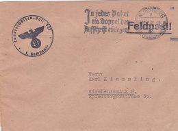 German Feldpost WW2: Landesschützen Bataillon 827 In Nürnberg-Langwasser P/m Nürnberg 20.3.1943 - Cover Only  (DD20-23) - Militaria