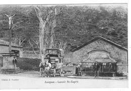 13 Bouches Du Rhône La Diligence De JOUQUES Au Départ Devant Le Lavoir St Esprit - Sonstige Gemeinden