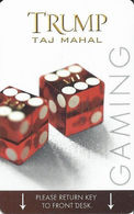 Trump Taj Mahal Casino Hotel Room Key Card Atlantic City NJ With (I) Manufacturer Mark - Hotel Keycards