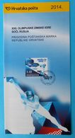WINTER OLYMPIC GAMES 2014. SOCHI - Croatian Post Postage Stamp Prospectus * Jeux Olympiques Olympia Olympiade Olimpici - Inverno 2014: Sotchi