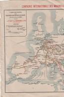 Compagnie Des Wagons Lits  1893. Chemins De Fer De L'europe; Abimée - Europa