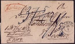 Pommern Germany Poland 1851, Auslagen Letter From Samter - Szamotuly To Posen - Poznan W379 - Polen