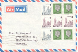 Canada Air Mail Cover Sent To Denmark 10-4-1982 - Airmail