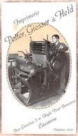 Imprimerie Petter, Giesser & Held Rue Caroline 5 - Angle Pont Bessières Lausanne (14.5 X 8.5) Vaud Suisse - Advertising