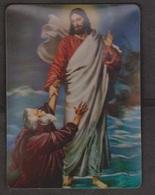 Jesus Walking On Water With St Peter - 3D - Unused - Jesus