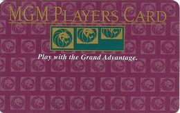 MGM Grand Casino - Las Vegas, NV - BLANK Slot Card - Play With The Grand Advantage - Casino Cards