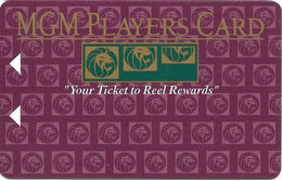 MGM Grand Casino - Las Vegas, NV - BLANK Slot Card - Your Ticket To Reel Rewards In White - Casino Cards
