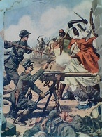 ILLUSTRATA BELTRAME MILITARE SOLDATO LORENZI ALPINI EROE A DERNA Dalla DOMENICA DEL CORRIERE 1912 Nuova 1959 GT2479 - Illustratori & Fotografie