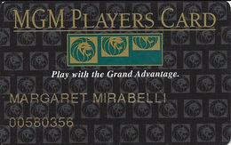 MGM Grand Casino - Las Vegas, NV - Slot Card - Play With The Grand Advantage - Casino Cards