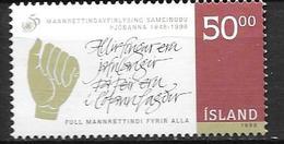 Islande 1998 N°852 Neuf Droits De L'Homme - 1944-... Republik