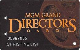 MGM Grand Casino - Las Vegas, NV - Slot Card - Bottom 2 Lines Text On Reverse Aligned - Casino Cards