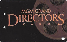 MGM Grand Casino - Las Vegas, NV - BLANK Slot Card - Bottom 2 Lines Text On Reverse Indented - Casino Cards