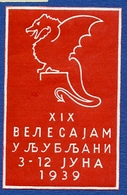 CINDERELLA : LJUBLJANA 1939 - Erinnophilie