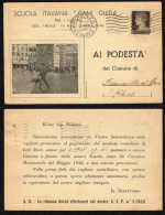 """ITALIA REGNO - 2.8.40 - DA FIRENZE VERSO FRANCAVILLA AL MARE (CHIETI) - SCUOLA ITALIANA """"CANI GUIDA"""" - Storia Postale"""