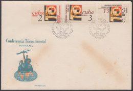 1966-FDC-67 CUBA. 1966 FDC. CONFERENCIA TRICONTINETAL EN LA HABANA. - FDC
