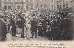 ANTWERPEN - Koloniale Feesten, 6 Juni 1909 - Zijne Majesteit Ontvangen Door De Handelskamer - Antwerpen