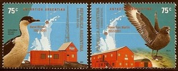 LSJP ARGENTINA ANTARCTIC BASE BROWN AND SAN MARTIN - BIRDS - 2001 MNH - Argentina