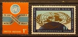 NACIONES UNIDAS - NEW YORK 1961 Postage Stamps. NUEVO - MNH. - New York – UN Headquarters