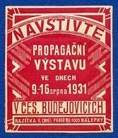 CINDERELLA : PRAG / PRAHA - NAVSTIVTE PROPAGACNI VYSTAVU 1931 - Cinderellas