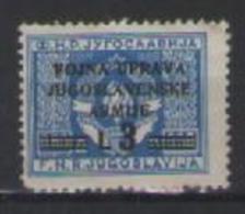JUGOSLAVIA 1947 SERVIZIO AMMINISTRAZIONE MILITARE YUGOSLAVA YVERT 2 MLH  VF - 1945-1992 Repubblica Socialista Federale Di Jugoslavia