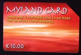 Italy, Italia- Myland Card. Telecom, Used . Exp. 31.12.2005. - Italie