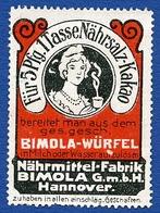 CINDERELLA : ALLEMAGNE - HANNOVER - BIMOLA WURFEL KAKAO - Cinderellas