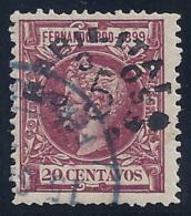 ESPAÑA/FERNANDO POO 1900 - Edifil #72 - VFU - Fernando Po