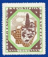 CINDERELLA : ESPAGNE - BARCELONA 1929 - EXPOSICION PUEBLO ESPANOL - Erinnophilie