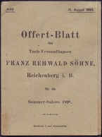 AUSTRIA - BÖHMEN - REICHENBERG  LIBEREC - Reklam. Tuchfabrik - 1898 - Autriche