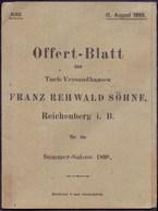AUSTRIA - BÖHMEN - REICHENBERG  LIBEREC - Reklam. Tuchfabrik - 1898 - Austria