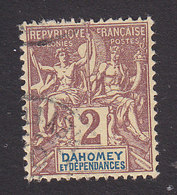 Dahomey, Scott #2, Used, Navigation And Commerce, Issued 1899 - Dahomey (1899-1944)