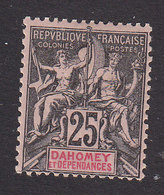 Dahomey, Scott #8, Mint Hinged, Navigation And Commerce, Issued 1899 - Dahomey (1899-1944)