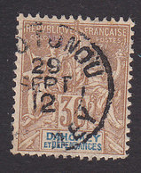 Dahomey, Scott #10, Used, Navigation And Commerce, Issued 1899 - Dahomey (1899-1944)