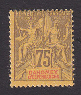 Dahomey, Scott #13, Mint Hinged, Navigation And Commerce, Issued 1899 - Dahomey (1899-1944)