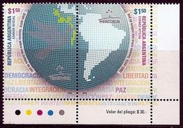 LSJP ARGENTINA DECADE OF PEACE MERCOSUR 2010 MNH - Argentina