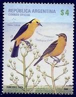 LSJP ARGENTINA FAUNA BIRDS MERCOSUR 2008 MNH - Argentina