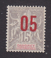 Dahomey, Scott #34, Mint Hinged, Navigation And Commerce Surcharged, Issued 1912 - Dahomey (1899-1944)