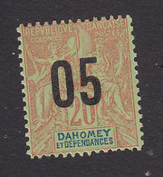 Dahomey, Scott #35, Mint Hinged, Navigation And Commerce Surcharged, Issued 1912 - Dahomey (1899-1944)