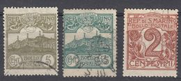 REPUBBLICA DI SAN MARINO - 1921 - Tre Valori Usati: Yvert 68, 69 E 71, Come Da Immagine. - Saint-Marin