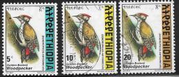 Ethiopia, Scott # 1467-8,1470 Used Woodpecker, 1998 - Ethiopia