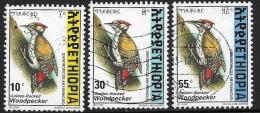 Ethiopia, Scott # 1468,1472,1477 Used Woodpecker, 1998 - Ethiopia