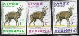 Ethiopia, Scott #1551-3 Used Menelik's Bushbuck, 2000 - Ethiopia