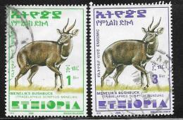 Ethiopia, Scott #1551, 1553 Used Menelik's Bushbuck, 2000 - Ethiopia