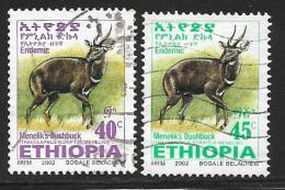 Ethiopia, Scott #1622-3 Used Menelik's Bushbuck, 2002 - Ethiopia