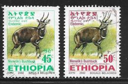 Ethiopia, Scott #1623-4 Used Menelik's Bushbuck, 2002 - Ethiopia
